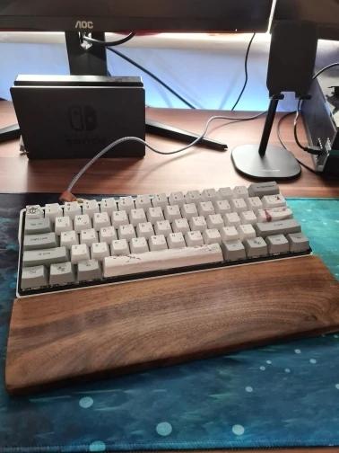 wood palm rest