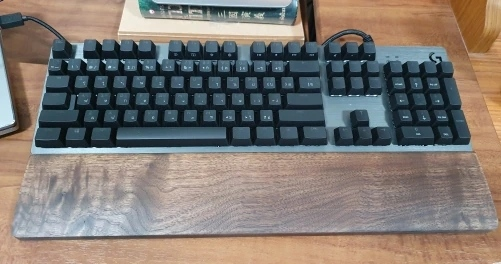 wood palm rest for mechanical keyboard