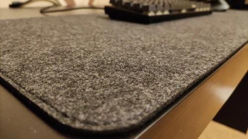 wool desk mat