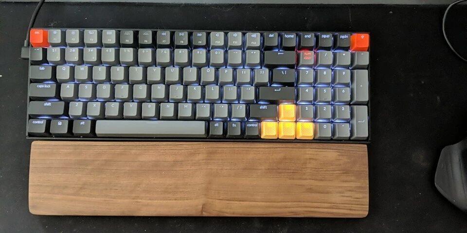 wood palm rest 87 keys