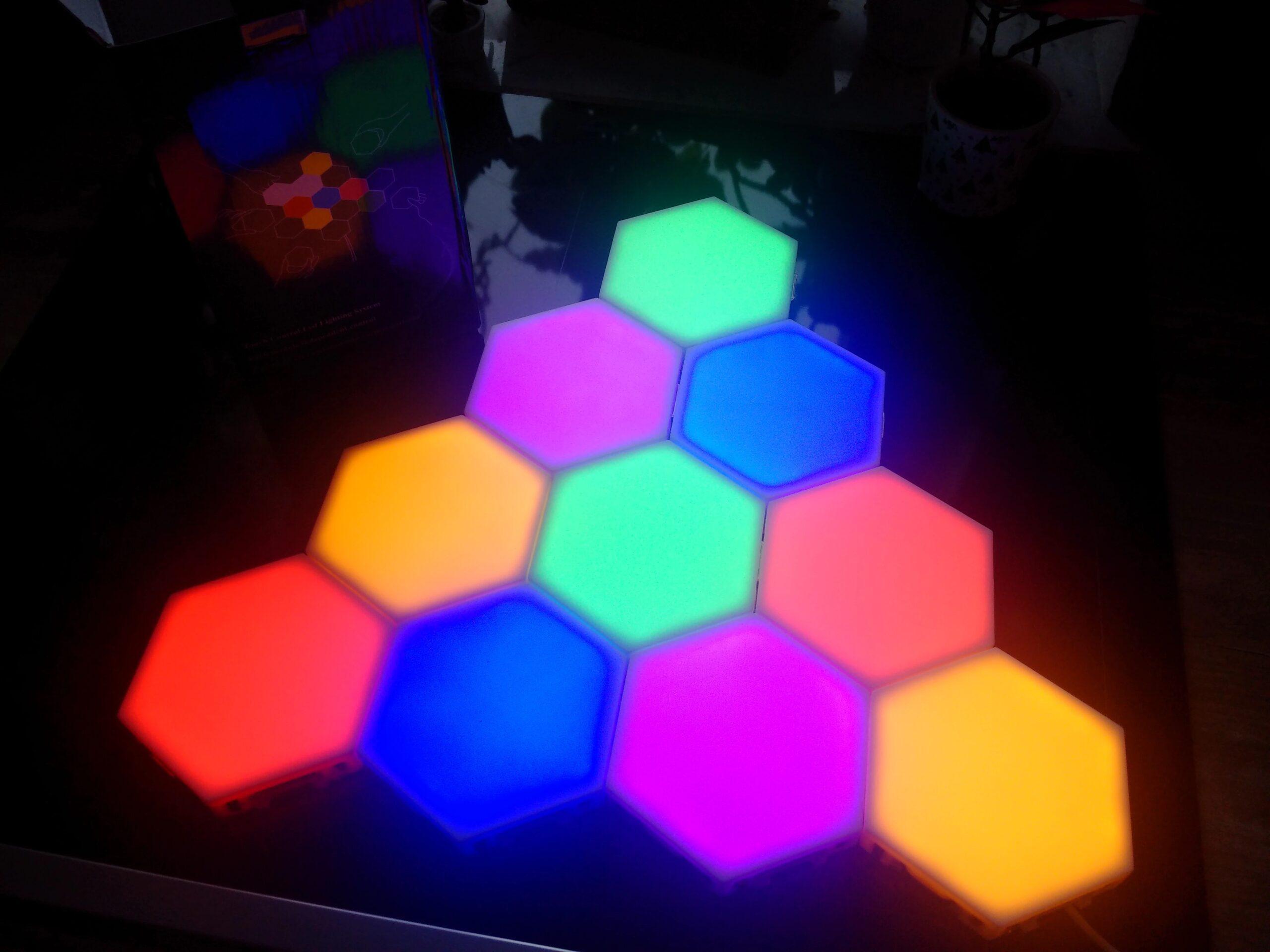 hexagon rgb light