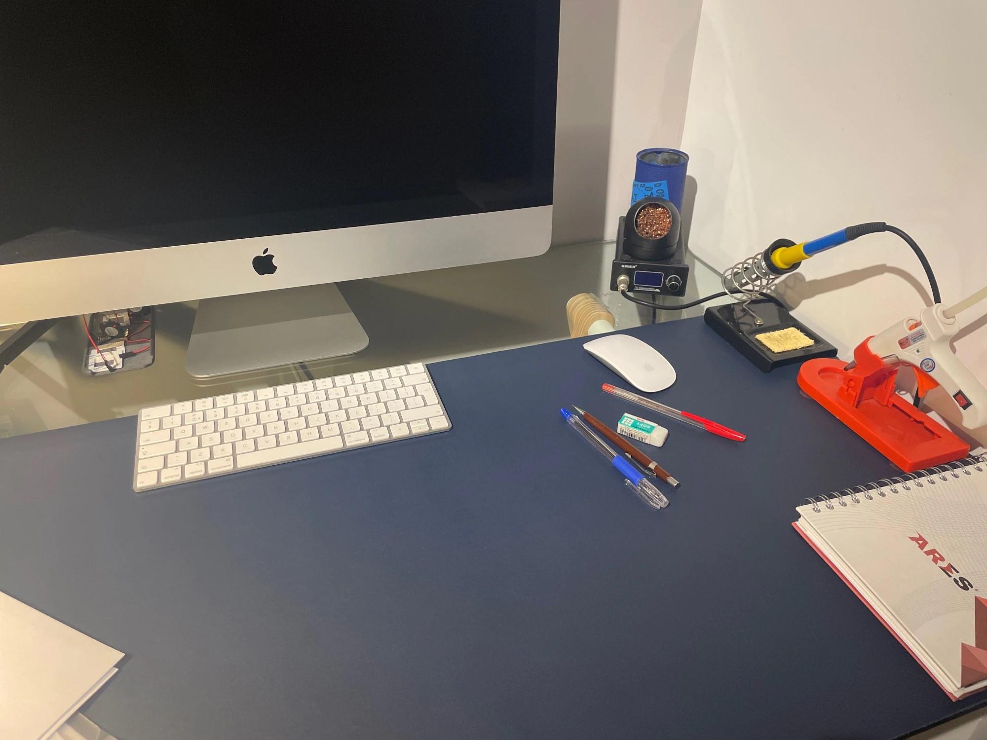 vegan leather desk mat